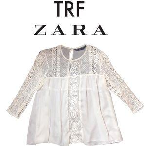 Zara Tops - TRAFALUC TRF Zara Lace Babydoll Top